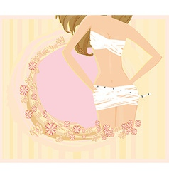 Women skinny figure abstract card vector