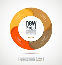 Colorful circular new projects design for business vector