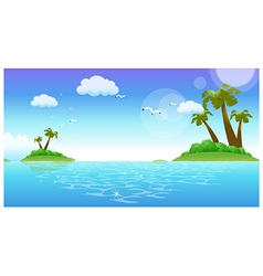 Tropical islands background vector