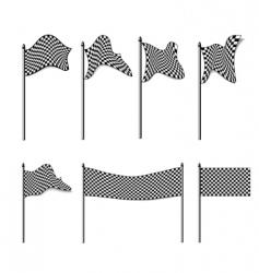Checkered flags collection vector