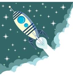 Space rocket in flight vector