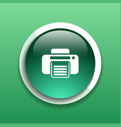 Fax web icon design printer document print vector