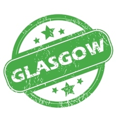 Glasgow green stamp vector