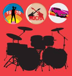Rock music vector