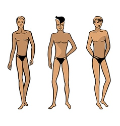 Full length front view of a standing man vector