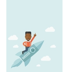 Black man in start up business vector