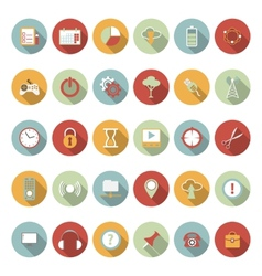 Universal flat icons vector