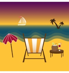 Freelancer paradise summer and vacation vector