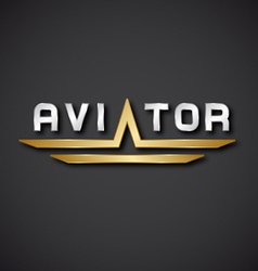 Eps10 aircraft aviator inscription icon vector