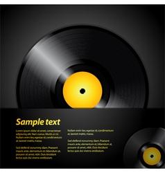 Vinyl record panel vector