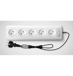 Electrical power strip with a switch vector