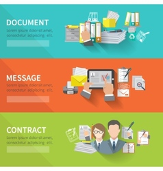 Document banner set vector