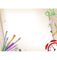 School supplies on white eps 10 vector