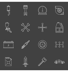 Auto service or repair icons set vector