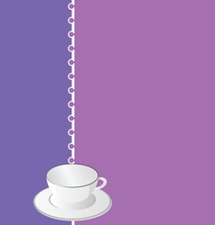 White empty coffee cup vector