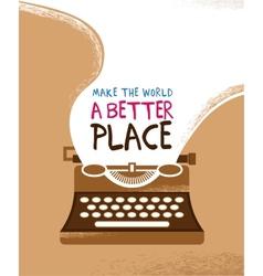Vintage typewriter poster vector
