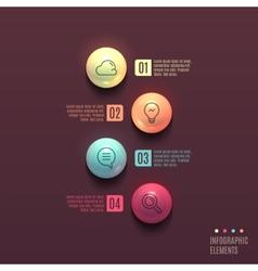 Business infographics ball concept vector