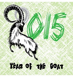 Chinese symbol goat 2015 year vector