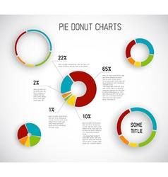 Donut pie chart templates vector
