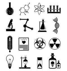 Chemistry science icons set vector