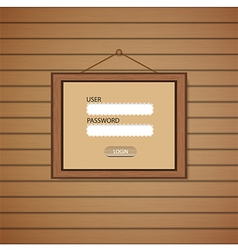 Picture frame web login form template vector
