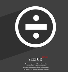 Dividing icon symbol flat modern web design with vector