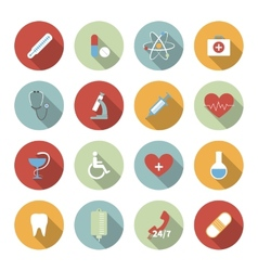 Medical flat icons set vector