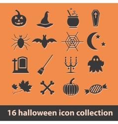 Halloween icons vector