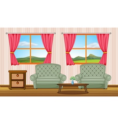 Furniture in a room vector