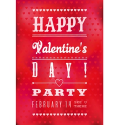 Colorful happy valentines day party poster vector
