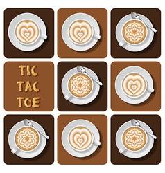 Tic-tac-toe of latte art vector