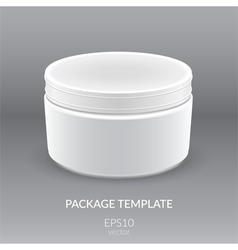 Blank cosmetic container for cream vector