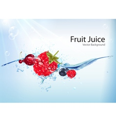 Fruit juice background vector