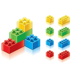 Object plastic blocks vector