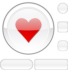 Love white button vector