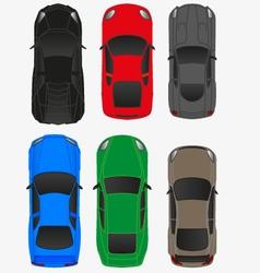 Top car view vol2 vector