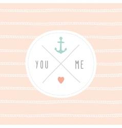 Anchor wedding invitation template vector