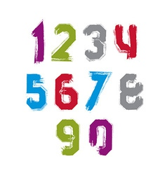 Freak colorful graffiti digits set of unusual vector