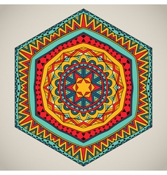 Tribal six-sided pattern vector