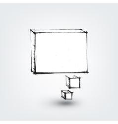 Design element hand drawn banner on white vector