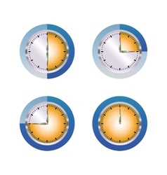Glass hours vector