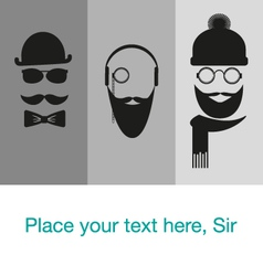 Hipster background template card banner vector