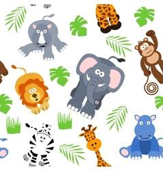 Seamless safari background vector