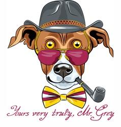 Hipster greyhound dog vector