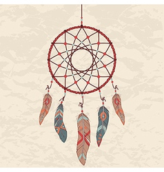 Colorful of dream catcher vector