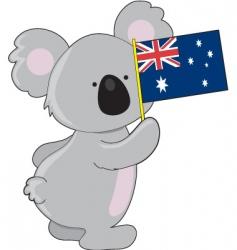 Koala australian flag vector