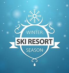 Winter ski resort season on blue background vector