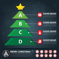 Christmas banner infographic vector