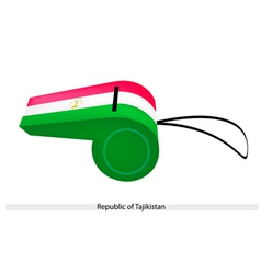 A whistle of the republic of tajikistan vector