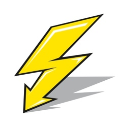 Lightning sign vector